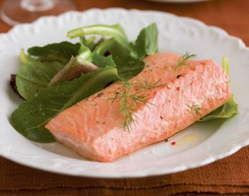 Find the recipe for Simple Poached Salmon and other herb recipes at Epicurious.com