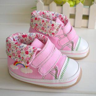 1 - 3 years old thickening rainbow baby infant shoes soft toddler shoes female shoes baby shoes alishoppbrasil