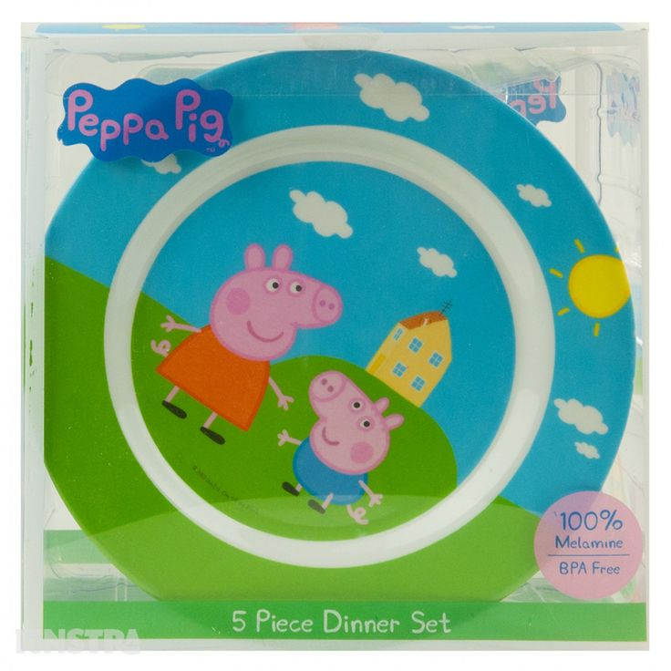Peppa Pig 5 Piece Dinner Set and more Peppa Pig toys and merchandise available at Funstra