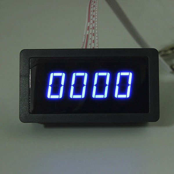 Clock Kit Temperature Light Control Version DIY 4 Digit LED Electronic. 4 Digital LED Tachometer RPM Speed Meter   Proximity Switch Sensor NPN  Specifications:  Working power supply: DC8-24v 40 mA Measure range: 5-9999 RPM Display: Blue LED 67*32mm Sign: Pusle signal, Hall NPN 3 wires normally open Hall proximity model: NJK-5002C Appearance: M12mm cylinder Detection range: 10mm Detected objects: Magnet Response frequency: 100HZ Operating temperature: 0 to 50°C  Package included:  1 x…