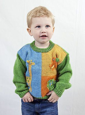 #Knitting pattern -toddler/infant zoo animal motif jumper (3 #sizes) #p0180,  View more on the LINK: http://www.zeppy.io/product/gb/2/301674430356/