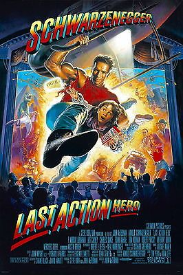 LAST ACTION HERO Movie Poster 1993 Arnold Schwarzenegger