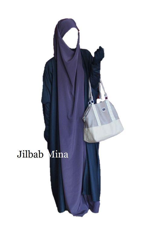 Jilbab Mina - Jilbab 1 pièce émiratie