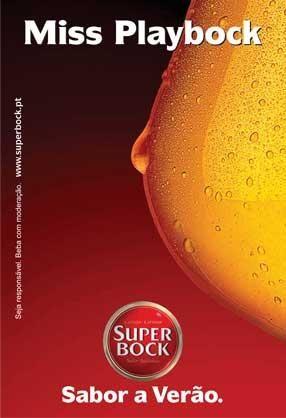 Super Bock beer - Miss Playbock