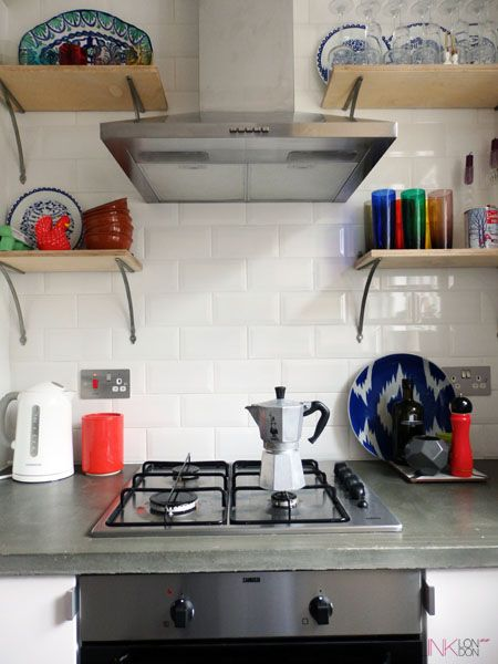 Birch plywood shelves, Anthropologie wishbone brackets, kitchen, Ikea kitchen units, Blink London, lifestyle blogger