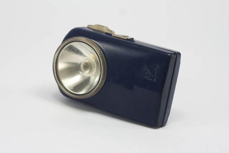 Flashlight, French vintage flashlight, Vintage Flashlight, Blue Pocket Flashlight, Wonder Flashlight, 50's Flashlight, Camping Flashlight. by yesterdaysgaze on Etsy