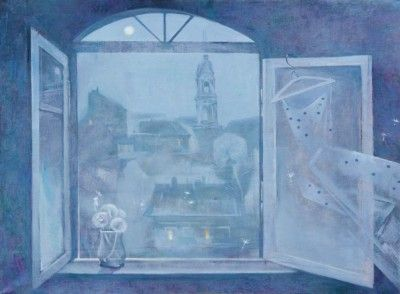 открытое окно картина