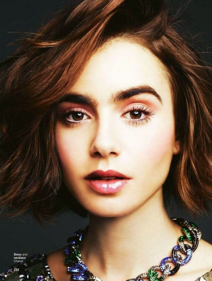 """""""Love Your Lips"""" Lily Collins for Glamour US May 2015"""