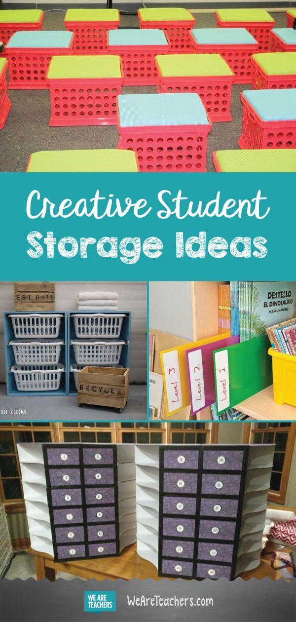 Best Of Weareteachers Helpline Creative Student Storage Ideas