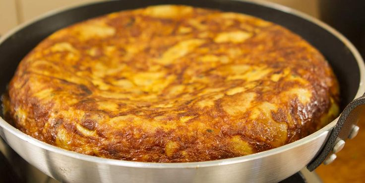 SPANISH POTATO OMELETTE (few ingredients) With pops of fried chorizo sausage Commonly know as Tortilla in Spain, the Spanish omelette is commonly made using only potatoes, onion and eggs. The potatoes and onion are usually fried in olive oil, but work equally well in canola oil as used in this recipe. It's basically four ingredients plus oil and seasoning