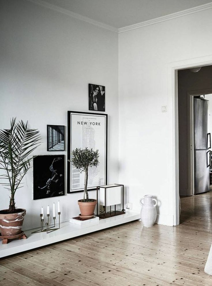 To create a thoroughly modern corner place an interesting collection of prints and accessories on