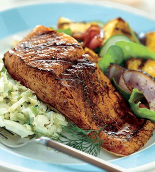 Fennel and Dill Rubbed Grilled Salmon Recipe