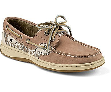 Sperry Top-Sider Bluefish Boat Shoe in Greige/Zig Zag Size