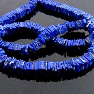 6-7mm - AA Lapis Lazuli Smooth Heishi Cube Bead Strands