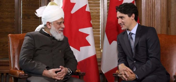 Canadian PM Justin Trudeau welcomes 'Khalifa of Islam' to Parliament Hill
