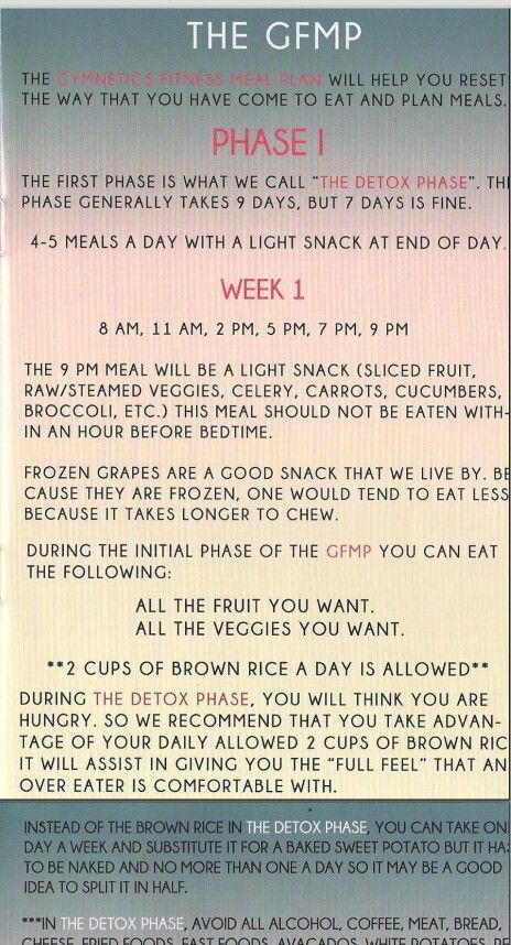 Black Girls Workout Too! Page2 meal plan I lost 10 lbs in 7 days!!!