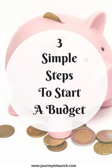3 simple steps to start a budget