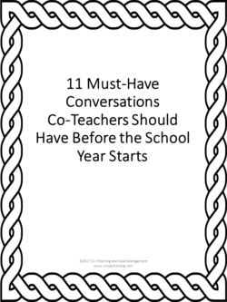 11 Discussion Questions for Co-Teachers & Gen.Ed. Teachers Before the Beginning of the Year - Co-Teaching