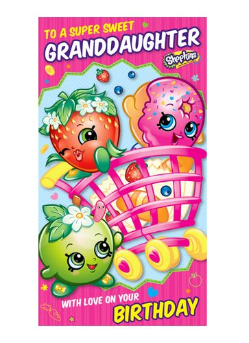 Super Sweet Granddaughter Shopkins Birthday Card available from Danilo.com at http://bit.ly/ShopkinsCards