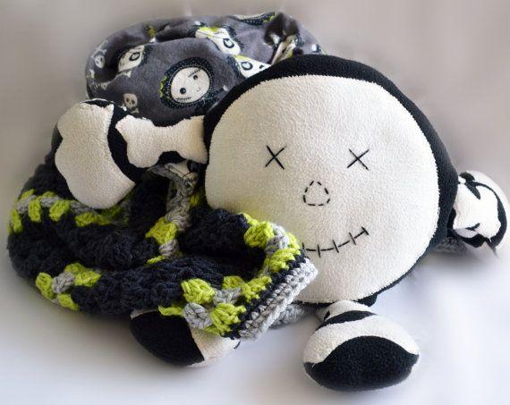 Zombie doll crochet baby blanket baby blanket by ValkinThreads2 #thewalkingdead…