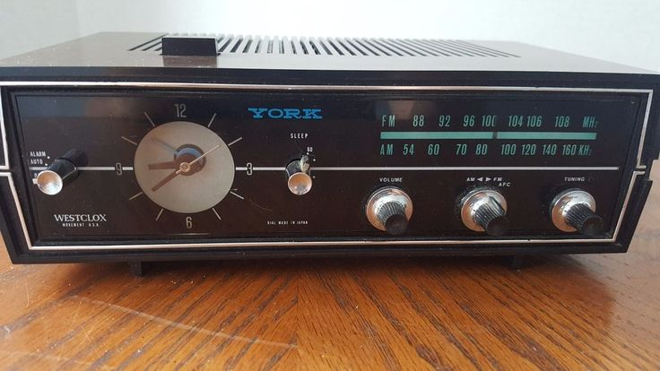 Vintage Westclox York Radio Alarm Clock Works VTG MCM Style Mid Century Modern #Westclox