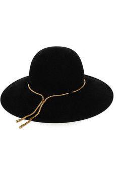 Lanvin Chain-embellished felt hat