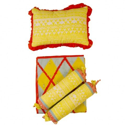 Baby Jalebi Unisex Baby Bedding Safari Blanket Pillow & Bolster Set