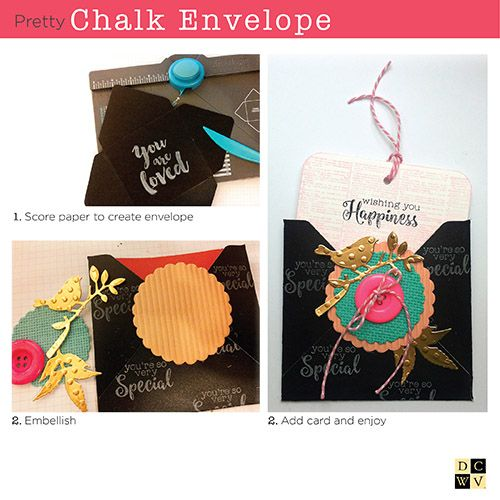 Fancy Chalkboard envelopes from @Papierkleckse; head to your local @HobbyLobby to get started!