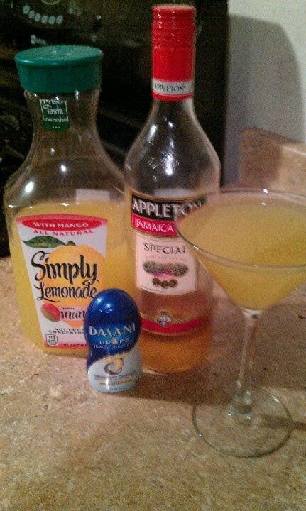 A taste that is straight from the islands... Appleton Rum, Simply Lemonade with Mango, Dasani Drops - Pineapple Coconut