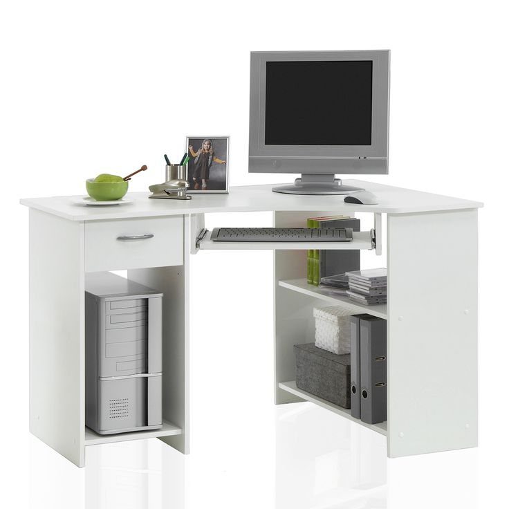 Scrivania angolare si adatta alle tue esigenze. Dotata di comodi ripiani per organizzare al meglio il vostro spazio! Il prodotto e' realizzato in nobilitato. Completa di un cassetto