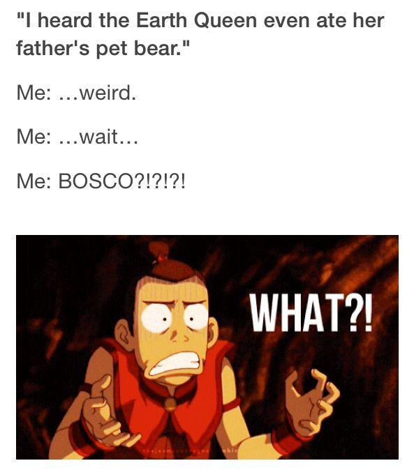 Legend of Korra: SHE ATE BASCO!!!???? NOOOOOOOOOOOOOOOOOO I WAS SOOOOO UPSET WHEN I HEARD THEM SAY THAT!!!