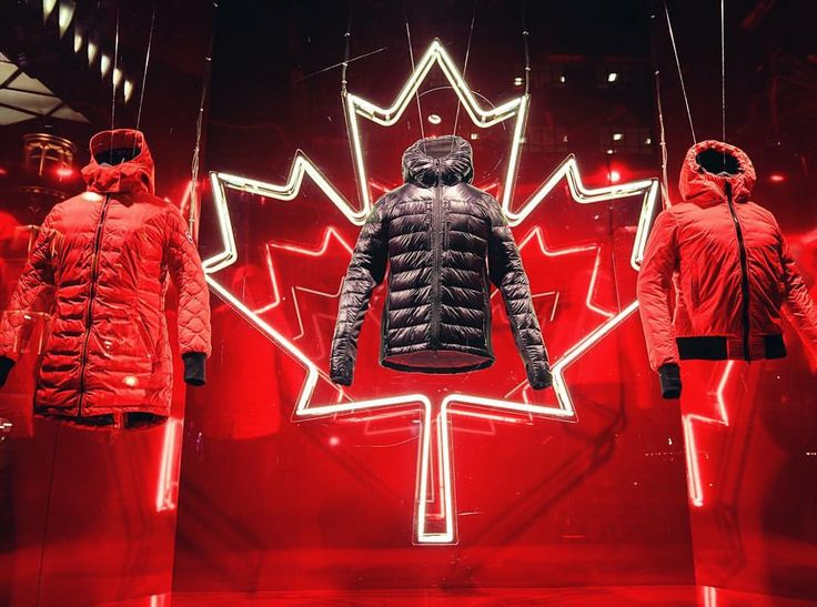 """SELFRIDGES, Oxford Street, London, UK, """"The Women's Lightweight Down Collection"""", for Canada Goose, photo by Retail Focus, pinned by Ton van der Veer"""