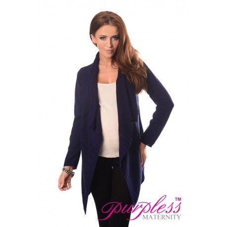 2in1 Maternity and Nursing Cascade Open Front Cardigan 9003 Navy  Every maternity wardrobe needs a cardigan. Our 2in1 maternity and nursing long sleeve cascade open front cardigan will add a level of comfort when you feel the need to wrap up.