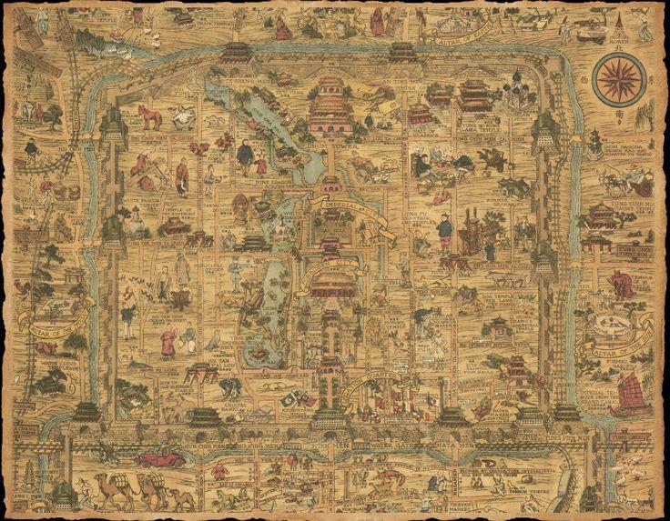 Map of Old Pekin/Beijing