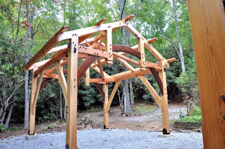 154 best timber frame images on pinterest timber frames for Post and beam garage plans