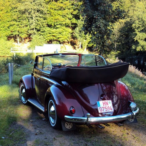 1954 L55 Maroon Red Cabriolet von Rotertoni Stefan, Heilbronn, Germany.  The car is built in January 1954, one of the first with 30hp engine.