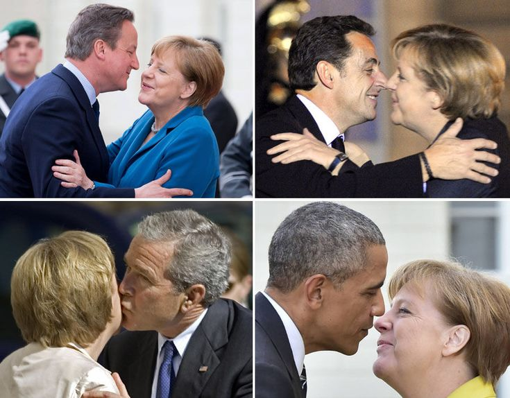 German chancellor Angela Merkel is certainly one of EU's most powerful women, we take a look through the awkward embraces she has with world leaders.