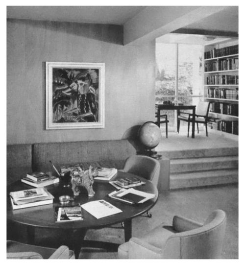 1960s Living Room / Family Room with Dining Area in Background.