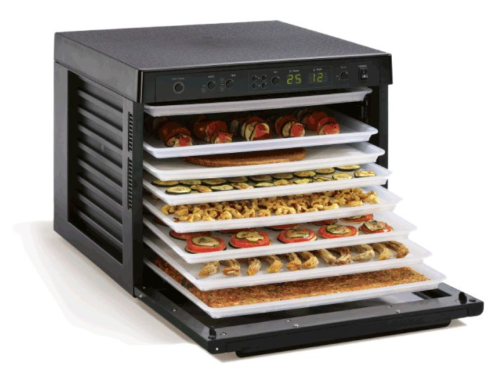 My beautiful food dehydrator where I prepare raw food pizza, raw cookies and raw desserts and all other beautiful food that are so delicious and just melt in mouth!