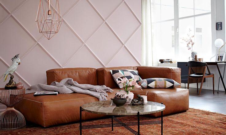 Zwei, die sich verstehen: Die Farben Braun und Rosa verkörpern Harmonie. Zusammen sind sie so zeitlos, dass man die ganze Wohnung mit ihnen gestalten kann.