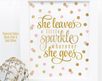 She Leaves A Little Sparkle Wherever She Goes by PrintasticStudio