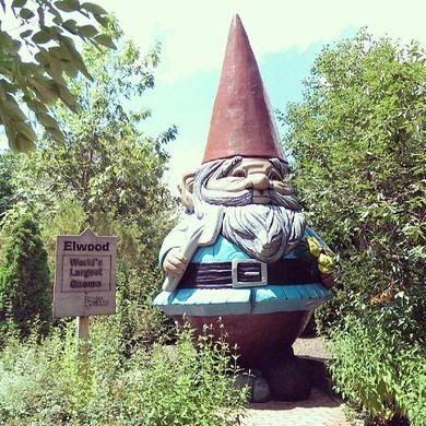 Elwood, The World's Tallest Concrete Gnome – Ames, Iowa   Atlas Obscura