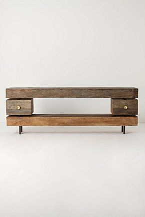 Reclaimed two-drawer console