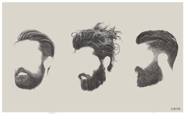 More ghostly beards, beards and beards.