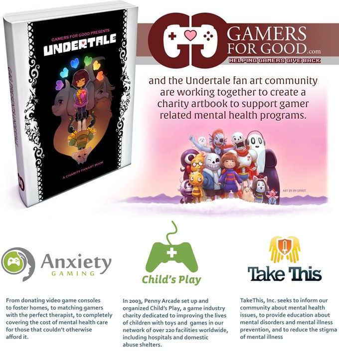 Gamers for Good Presents: Undertale Charity Fanart Book by Gamers for Good — Kickstarter