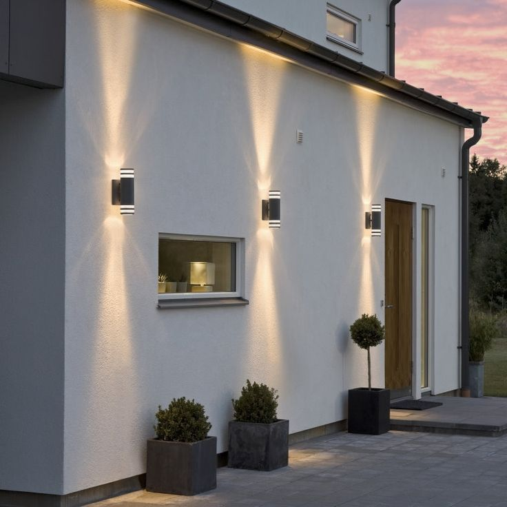 Konstsmide modena matt white two light wall light find this pin and more on outdoor
