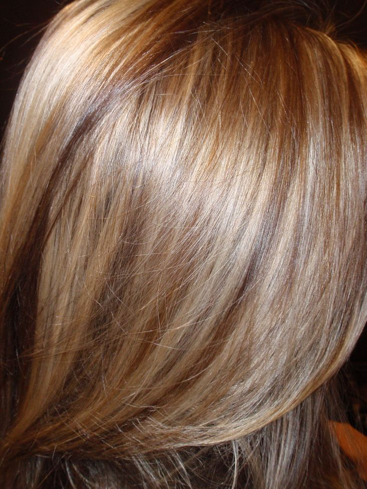 Golden Blonde And Dark Blonde Highlights And Lowlights