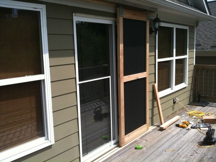 Built a sliding screen door! - The Garage Journal Board - guides on the bottom!!