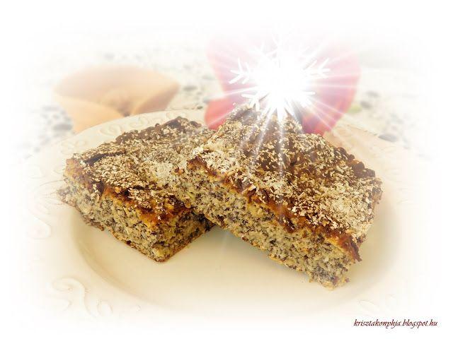 Kriszta konyhája- Sütni,főzni bárki tud!: Almás -mákos pite ( paleo )
