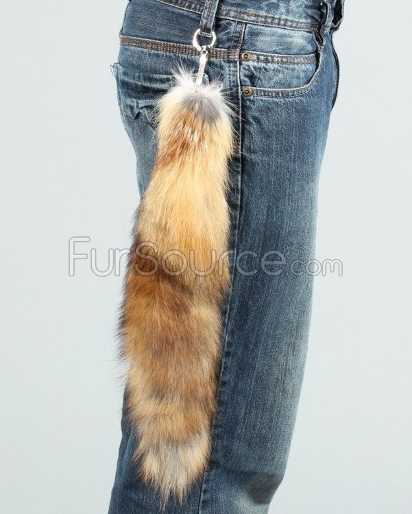 Red Fox Tail Keychain - Red Fox Tail